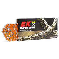 EK CHAINS 420 HEAVY DUTY ORANGE 136L RACE CHAIN