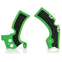 ACERBIS KAWASAKI KX450F 09-17 X-GRIP GREEN FRAME GUARDS
