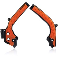 ACERBIS KTM/HUSQVARNA 16-17 X-GRIP BLACK/ORANGE FRAME GUARDS
