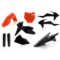 ACERBIS KTM SX/SX-F 2016-18 ORANGE BLACK PLASTICS KIT