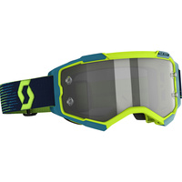 SCOTT FURY LS NEON YELLOW/BLUE LIGHT SENSITIVE GREY LENS GOGGLES