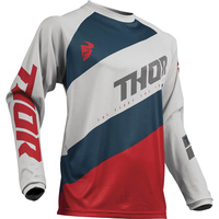 THOR 2019 SECTOR SHEAR LT GREY/RED JERSEY