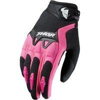 THOR 2017 SPECTRUM BLACK/PINK WOMENS GLOVES