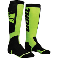 THOR 2018 BLACK/LIME KIDS MX SOCKS