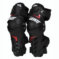 LEATT DUAL AXIS BLACK/RED KNEE GUARDS