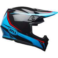 BELL 2018 MX-9 TORCH BLACK/CYAN/RED HELMET