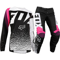 FOX 2018 180 BLACK/PINK GIRLS GEAR SET