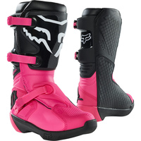 FOX 2021 COMP BLACK/PINK KIDS BOOTS