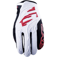 FIVE MXF3 WHITE/RED GLOVES