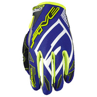 FIVE MXF PRO RIDER S BLUE/YELLOW GLOVES