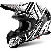 AIROH TERMINATOR 2.1 CLEFT GLOSS BLACK/WHITE HELMET