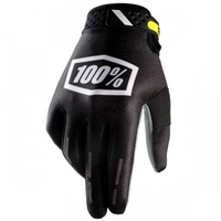 100% PERCENT RIDEFIT CORPO BLACK GLOVES