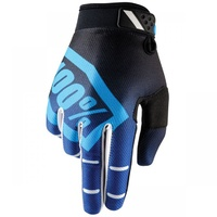 100% PERCENT RIDEFIT CORPO BLUE GLOVES