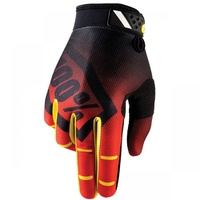 100% PERCENT RIDEFIT CORPO RED GLOVES