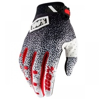 100% PERCENT 2018 RIDEFIT BLACK/WHITE GLOVES