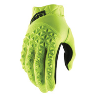 100% PERCENT AIRMATIC FLURO YELLOW/BLACK GLOVES