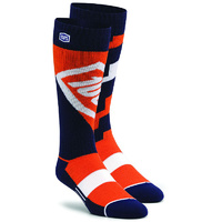 100% PERCENT TORQUE COMFORT ORANGE MOTO SOCKS