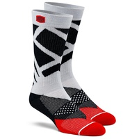 100% PERCENT RIFT STEEL GREY ATHLETE SOCKS