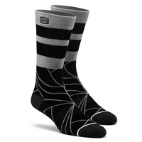 100% PERCENT FRACTURE BLACK ATHLETE SOCKS