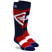 100% PERCENT TORQUE COMFORT RED KIDS MOTO SOCKS