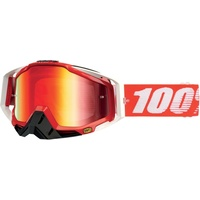 100% PERCENT RACECRAFT FIRE RED TINTED GOGGLES