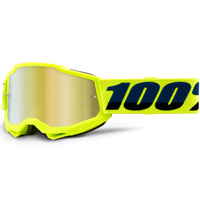 100% PERCENT ACCURI 2 YOUTH YELLOW GOLD MIRROR GOGGLES