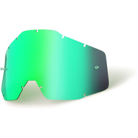 100% RACECRAFT, ACCURI & STRATA GREEN MIRROR LENS