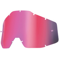 100% RACECRAFT, ACCURI & STRATA MIRRORED PINK LENS